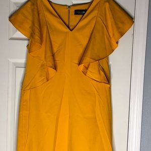 Mustard New York & co ruffle dress